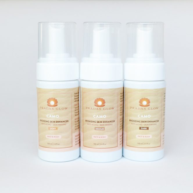 Camo Bronzing Skin Enhancer - Pradas Glow Tanning Products
